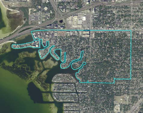 Aerial View-Beach Park, Tampa, FL